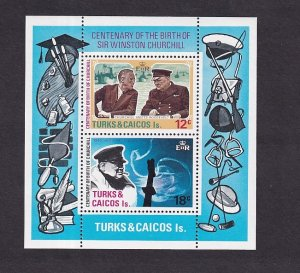 Turks and Caicos  #297a-298a  MNH  1974  sheet  Churchill