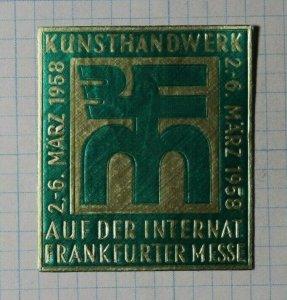 Arts & Crafts Boarding School Fair 1958 Frankfurter Exposition Poster Stamp Ads