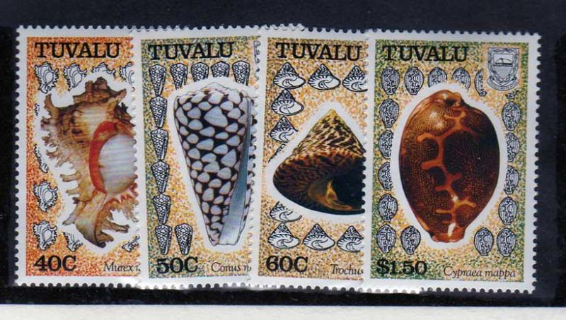 Tuvalu Scott 562-565 MNH! Sea Shells!