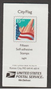 U.S. Scott #3278a-3278c BK275 American Flag over City Stamp - Mint NH Booklet