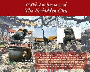 2020/12- TUVALU - FORBIDEN CITY 600TH    4V  complet set    MNH ** T