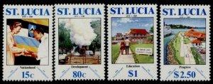 St Lucia 932-5 MNH Independence, Princess Alexandra, Sulphur Springs, Education