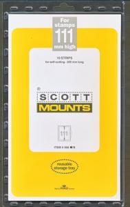 Prinz Scott Stamp Mount 111/265 BLACK Background Pack of 10