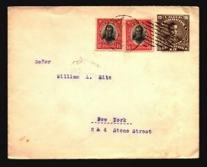 Chile 1923 Uprated Stationery Cover to NY (II) - Z14677