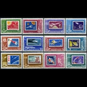 HUNGARY 1963 - Scott# C236-47 Space SOS Set of 12 NH