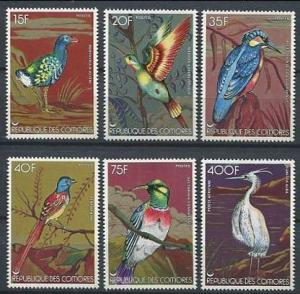 1978 Comoro Islands Scott 285-290 Birds MNH
