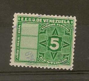 VENEZUELA STAMP,VFU E.E.U.U.DE VENEZUELA 5 CENTIMOS  #C-5