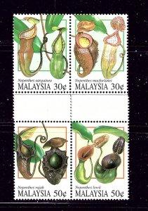 Malaysia 579a-81a NBG 1996 Pitcher Plants