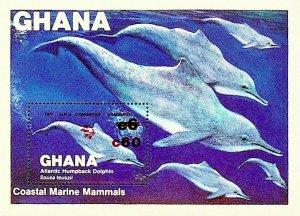Ghana MNH S/S 846 Dolphins 1983