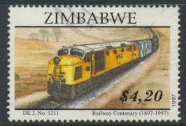 Zimbabwe SG 959  SC#  791 Used  Railways Trains   see detail and scan