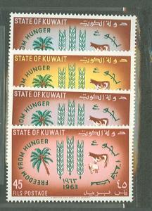 1963 Kuwait Scott 193-196 Freedom from Hunger MNH