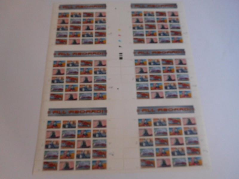 US Stamps All aboard Press Sheet of 120 x 0.33 stamps MNH VF