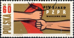 POLAND / POLEN - 1964 Mi.1500 60Gr. Workers' Party Congress - VF Used (b)