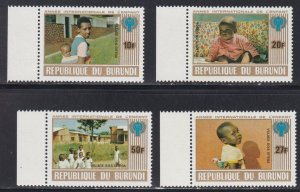 Burundi # 557-560, International Year of the Child, Perf Set NH, 1/2 Cat.