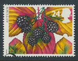 Great Britain  SG 1780 SC# 1511 Used / FU with First Day Cancel - Autumn Four...