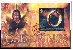 Isle of Man Sc 1021 2003 Lord of the Rings stamp sheet used