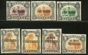 NYASSA Sc#39-43, 49-50 1903-10 Three Complete Sets OG Mint Hinged (ab)