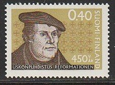 1967 Finland - Sc 449 - MNH VF - 1 single - Martin Luther by Lucas Cranach