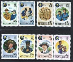 Montserrat MNH 592-9 60th Anniversary Girl Guides SCV 2.95