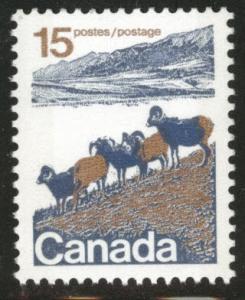 Canada Scott 595 MNH** 1975 mountain sheep stamp