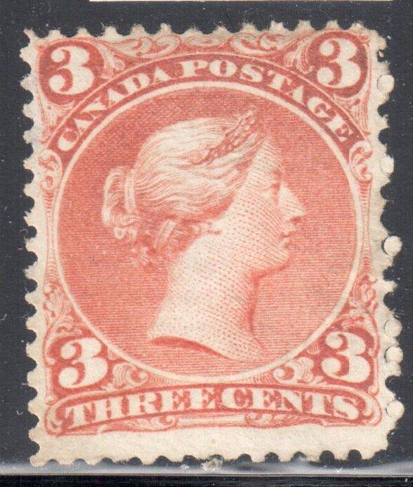 Canada #33 Mint Laid Lines - Rare  C$25,000.00