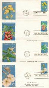 US FDC #1783-1786 Endangered Flora, 1st Cachet Garden Club Of America (10156)