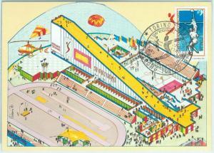 67864 - ITALY - POSTAL HISTORY -  Event  POSTCARD:  VOLLEYBALL 1980 Torino