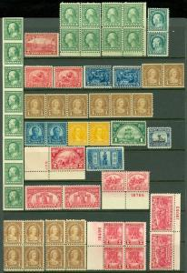 USA : Grouping of 20th Century. All MNH in varying quantities Fresh lot Cat $803