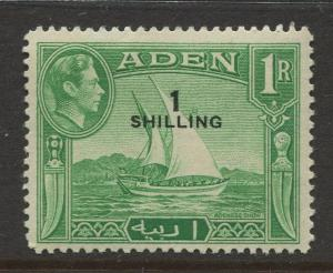 STAMP STATION PERTH Aden #43 KGVI Definitive Overprint Issue 1951 MLH CV$2.75.
