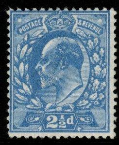 GB SGM17(1) 1911 2½d DEEP BRIGHT BLUE HARRISON p14 MNH