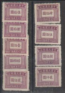 China SC J93-101  Mint  Hinged