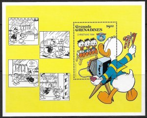 GRENADA GRENADINES 1984 Disney CHRISTMAS Donald Duck SS Sc 636 MNH