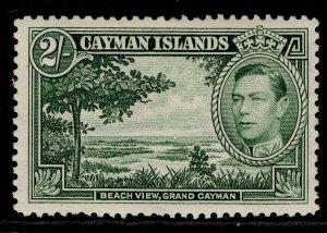CAYMAN ISLANDS GVI SG124a, 2s deep green, M MINT. Cat £25.