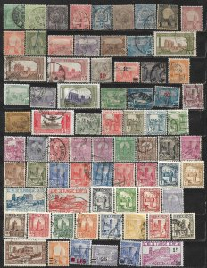 COLLECTION LOT OF 74 TUNISIA 1888+ STAMPS CV + $ 36