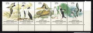 Australian Antarctic Territory Sc L55 1983 local wildlife stamp strip mint NH
