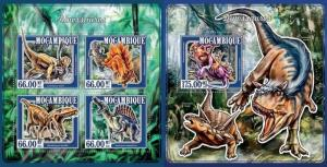 Z08 MOZ15113ab Mozambique 2015 Dinosaurs SET Postfrisch ** MNH