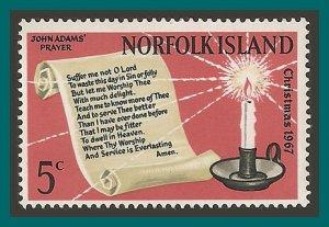 Norfolk Island 1967 Christmas, MNH  #115,SG92
