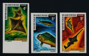 Afars & Issas 353-5 imperf MNH Manta Ray, Sawfish, Marine Life