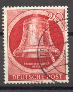 Berlin, 1951, Freedom Bell, clapper right, VF + used no faults, Mi. # 84