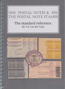 1945 Postal Notes & 1951 Postal Note Stamps, by T.G. van der Caaij. NEW