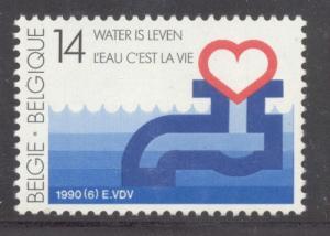 Belgium Sc 1340 1990 Nat Water Supply Soc stamp mint NH