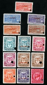 Colombia Stamps # 14 specimens 1940 and earlier NH