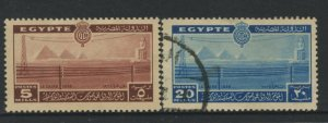 STAMP STATION PERTH Egypt #228,230 General Issue Used  1938