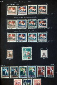 LATVIA 1918/40 M&U Collection Red Cross Airs(110+Items) (NT3292