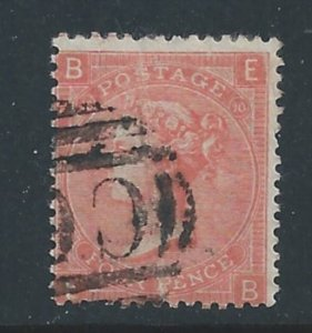 Great Britain #43 Used Plate 10 Queen Victoria 4p