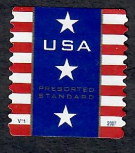 US #4157 Patriotic Banner Used PNC Single plate  #V111