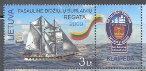 Lithuania Sc 898 2009 Tall Ships Regatta stamp mint NH