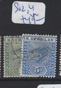 MALAYA  NEGRI SEMBILAN    (P3007BB)  TIGER   1C, 5C   SG 2, 4   VFU