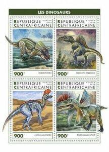 HERRICKSTAMP NEW ISSUES CENTRAL AFRICA Dinosaurs Sheetlet