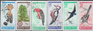 Hungary Used 2231-6 Protection Of Birds 1966